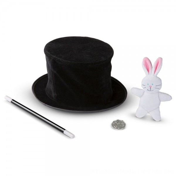 Black Friday 2020 | Melissa & Doug Magic in a Snap - Magician's Pop-Up Magical Hat with Tricks