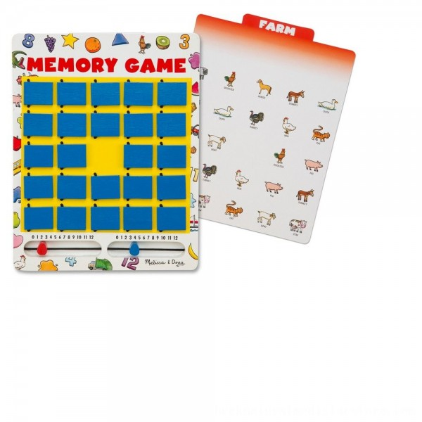 Black Friday 2020 | Melissa & Doug Flip to Win Travel Memory Game - Wooden Game Board, 7 Double-Sided Cards, Kids Unisex
