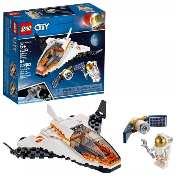 Black Friday 2020   LEGO City Space Satellite Service Mission 60224 Space Shuttle Toy Building Set 84pc