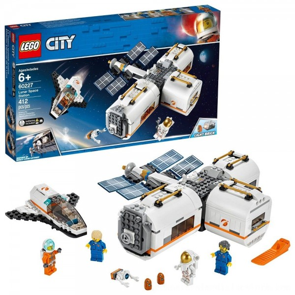 Black Friday 2020 | LEGO City Space Lunar Space Station 60227 Space Station Building Set with Toy Shuttle
