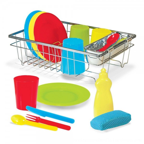 Black Friday 2020 | Melissa & Doug Let's Play House Wash and Dry Dish Set (24pc)