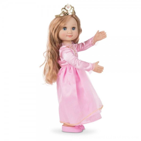 Black Friday 2020 | Melissa & Doug Celeste 14-Inch Poseable Princess Doll With Pink Gown and Tiara