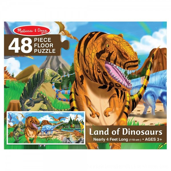 Black Friday 2020   Melissa And Doug Land Of Dinosaurs Floor Puzzle 48pc