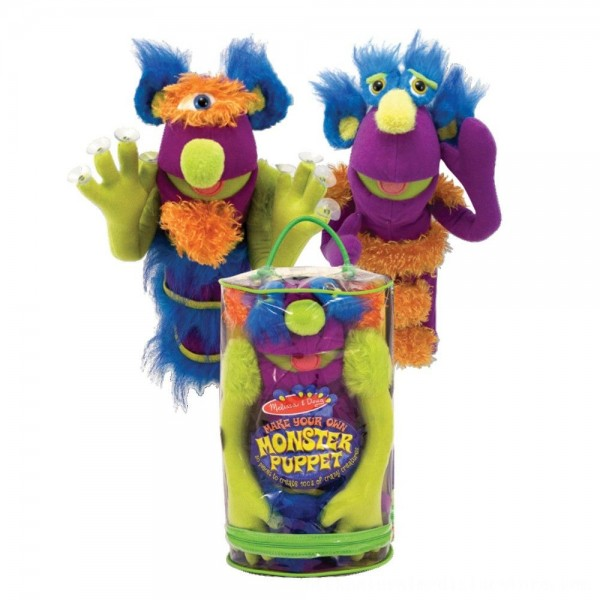 Black Friday 2020 | Melissa & Doug Make-Your-Own Fuzzy Monster Puppet Kit With Carrying Case (30pc)