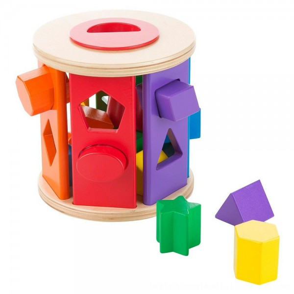 Black Friday 2020 | Melissa & Doug Match and Roll Shape Sorter - Classic Wooden Toy