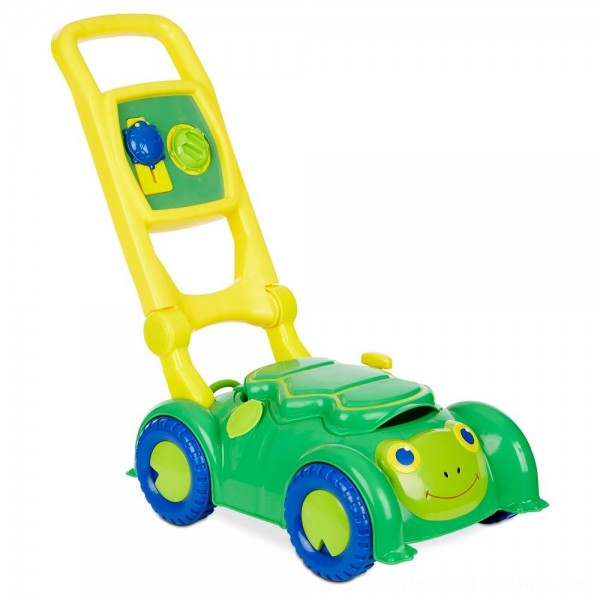 Black Friday 2020 | Melissa & Doug Sunny Patch Snappy Turtle Lawn Mower - Pretend Play Toy for Kids