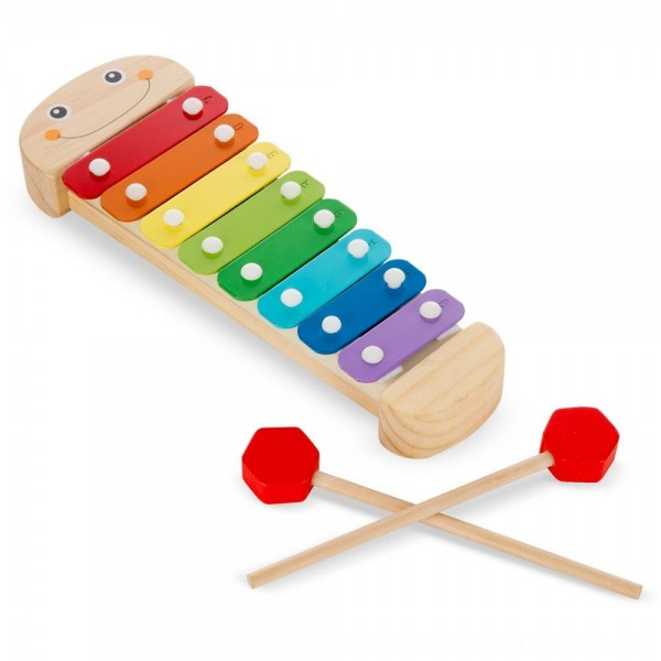 Black Friday 2020 | Melissa & Doug Caterpillar Xylophone Musical Toy With Wooden Mallets